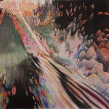 Glitch 19, Pastel en houtskool op papier, 2016