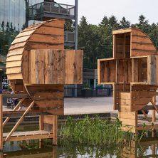 JVF08099 Rijnstate kunst in de vijver