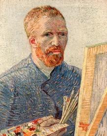 zelfportret Vincent van Gogh, detail