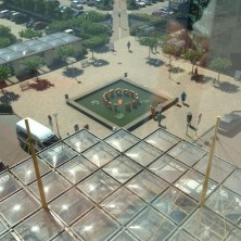 beeld vanaf 5e verdieping
