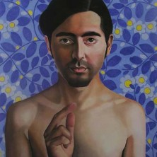 Alejandro (als Christus) 150 x 170 cm, pastel op papier