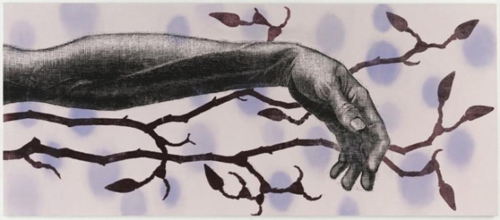 houtdruk van Jacomijn den Engelsen 210 x 280 cm