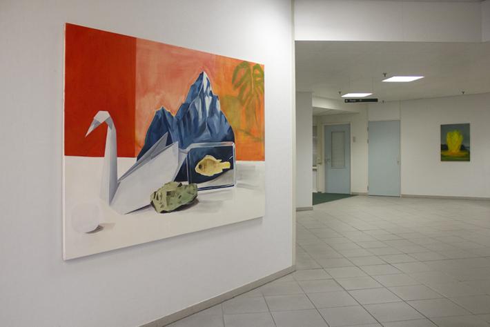 Overzicht van de expositie van Britt Dorenbosch in Rijnstate
